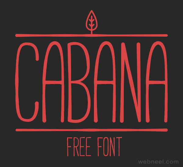 Cabana - free font by Adrien Coquet ( 50 Royalty free fonts for designers )