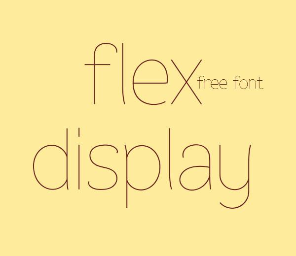 Flex Display - free fonts (  )