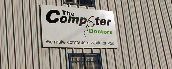 computer doctors failed logo