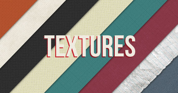Use of textures in vintage webdesign