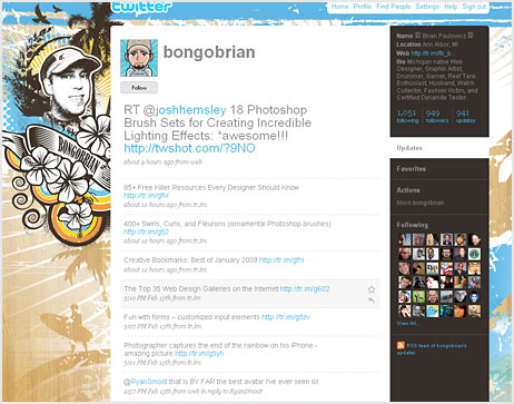 40 Beautiful Twitter Page Themes