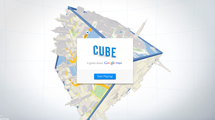 Cube ( 25 Animated home page web design examples )
