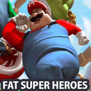 Marvel Avengers are now Fat Superheroes - Funny Digital Art works by Carlos Dattoli