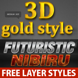 500 Free Photoshop Layer Styles For Designers - Download Now