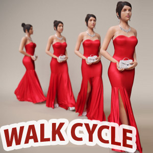 40 Human Walk Cycle Animation Gif files for Animators