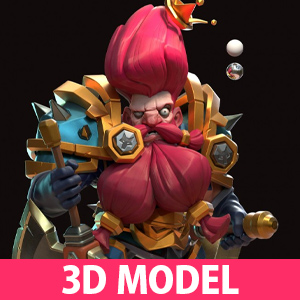 Brave Conquest Gaming 3D Model Character Designs by Chen Longfei
