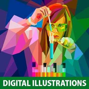 20 Colourful Low Poly Digital Illustrations of American College by Charis Tsevis