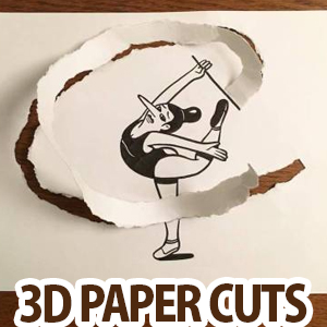 Creative 3D Paper Cut illustrations by HuskMitNavn