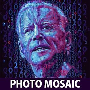 Photo Mosaic Manipulation Work of Joe Biden Election Campaign by Charis Tsevis