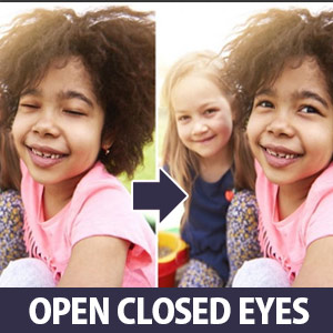Open Closed Eyes with Adobe Photoshop Elements - photo editing tool