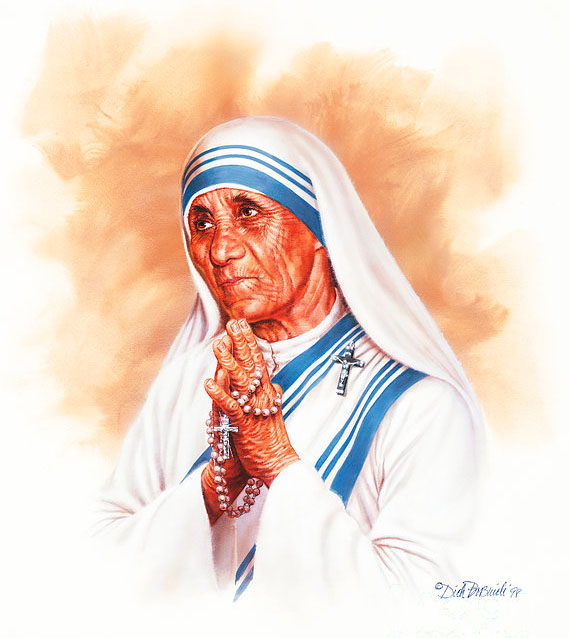 mother teresa painting dick bobnick