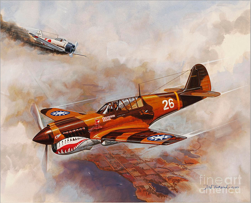 world war fighter plane painting dick bobnick
