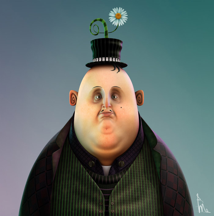 3d character design by brunomaremonti