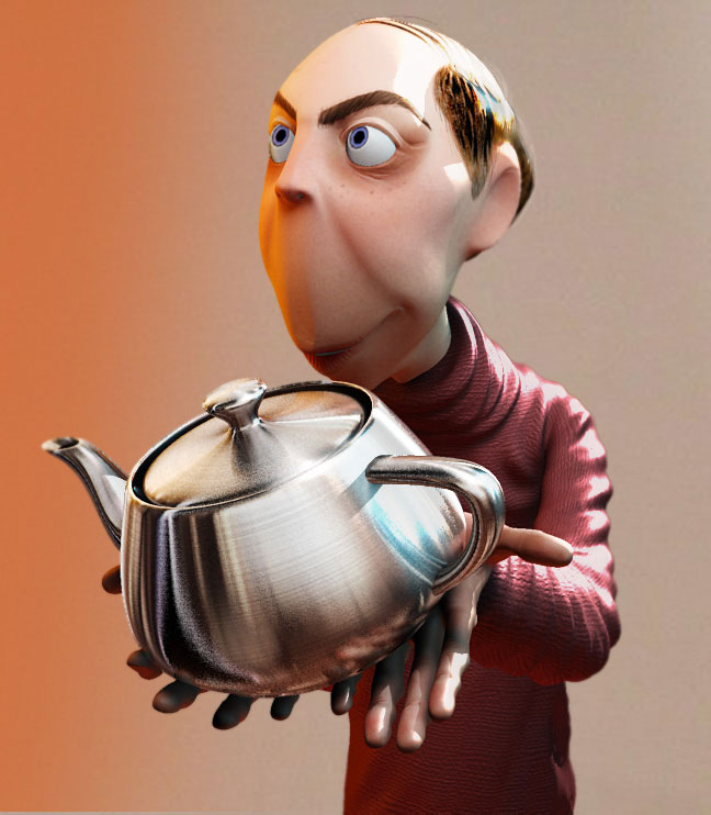 3d character design jones teapot