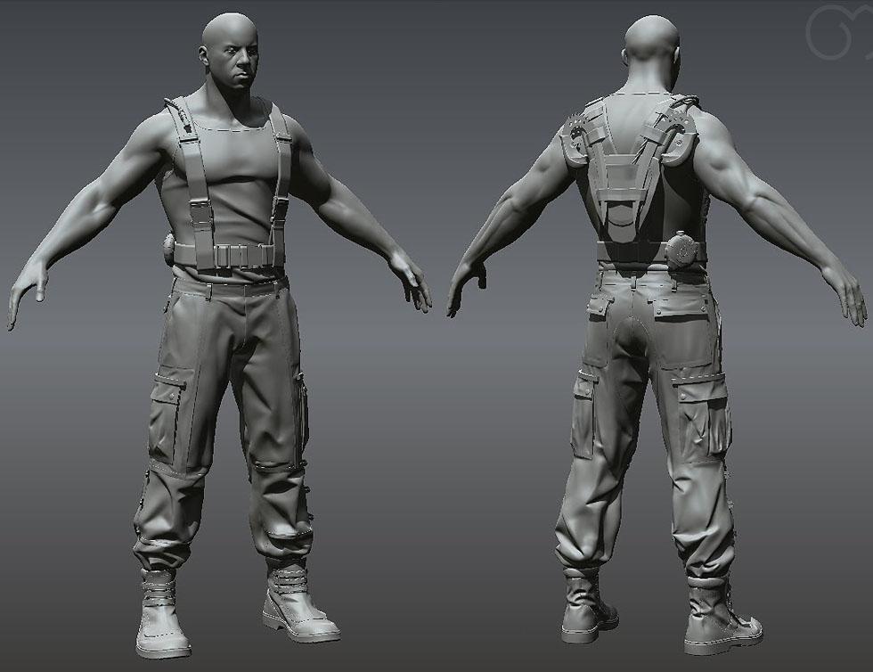 3d man models