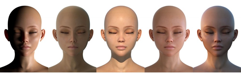 3d model face wip character design