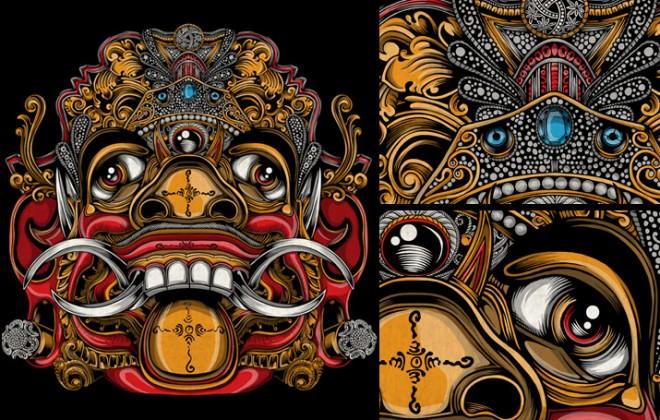 balinese mask artwork 1