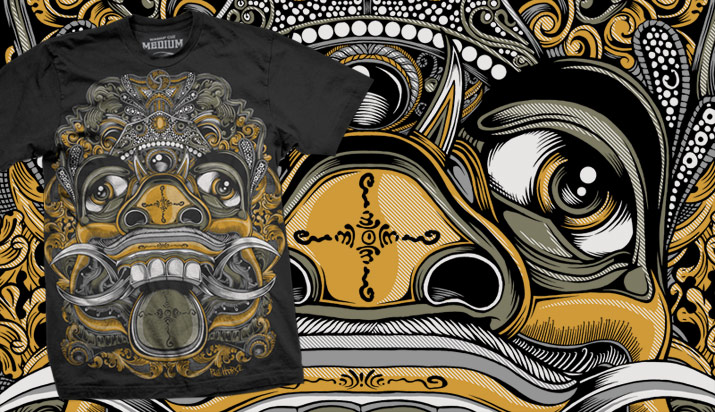 art illustration mask painting indonesia balinese