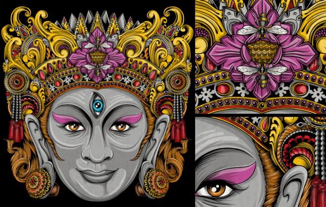 balinese mask artwork 3
