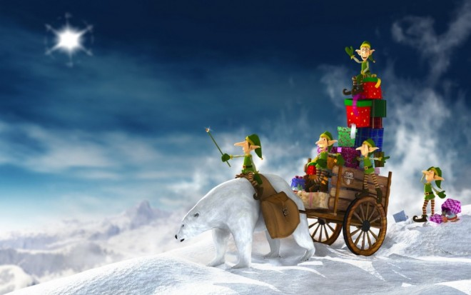 christmas wallpaper winter slay elfs