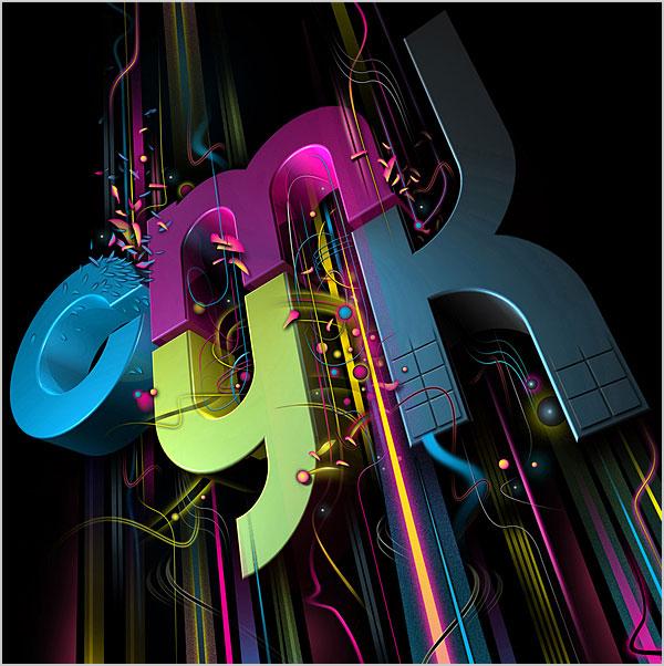 creative 3d typography