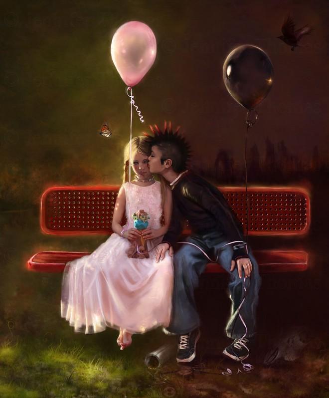 damiens kiss by cypherx