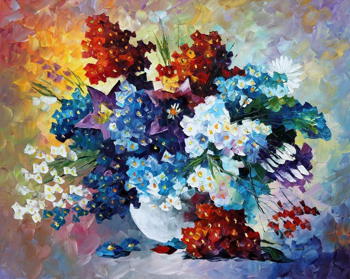 flower painting by leonid afremov
