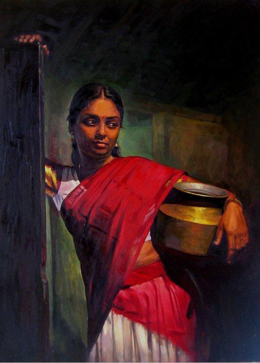paintings of rural indian women
