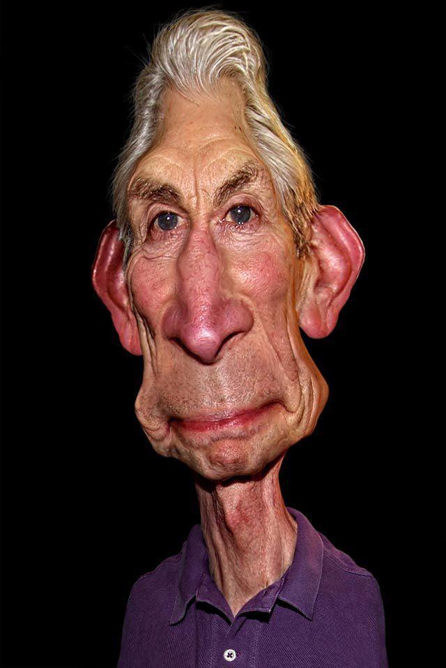 rodney pike celebrity caricatures