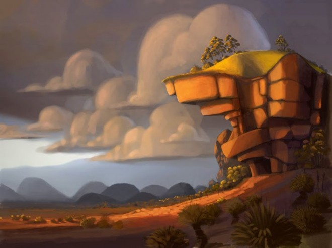 the cave digital paintings from artist shane devries