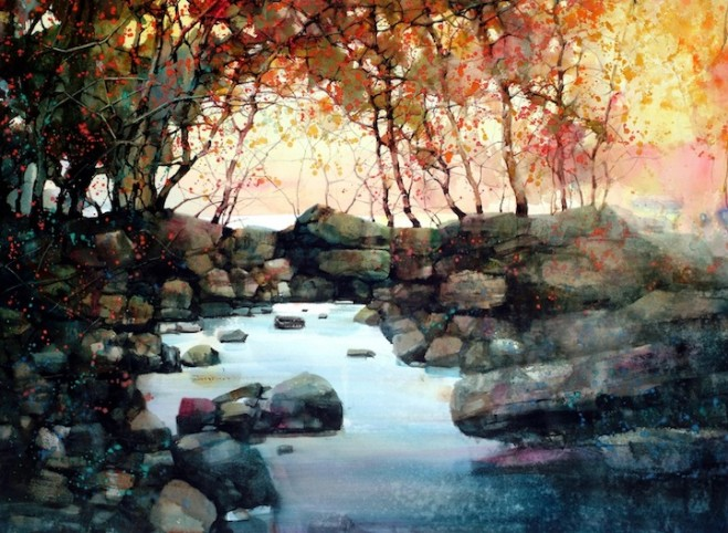 water colour paintins zl feng shangai artist 1