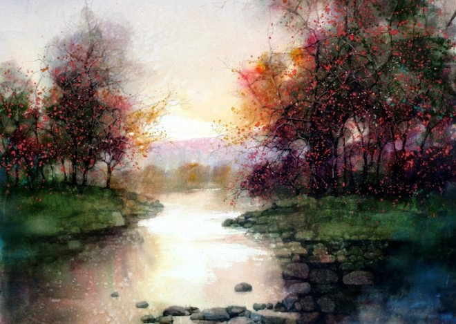 water colour paintins zl feng shangai artist 4