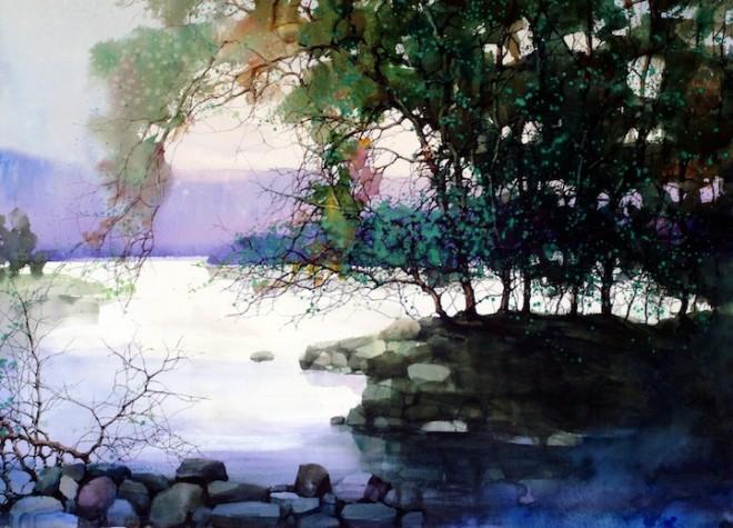 water colour paintins zl feng shangai artist 5