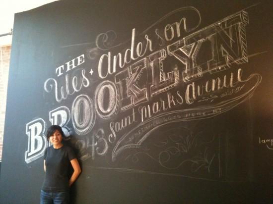 chalk lettering dana tanamachi