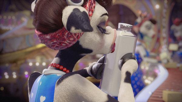 clover milk 3d character