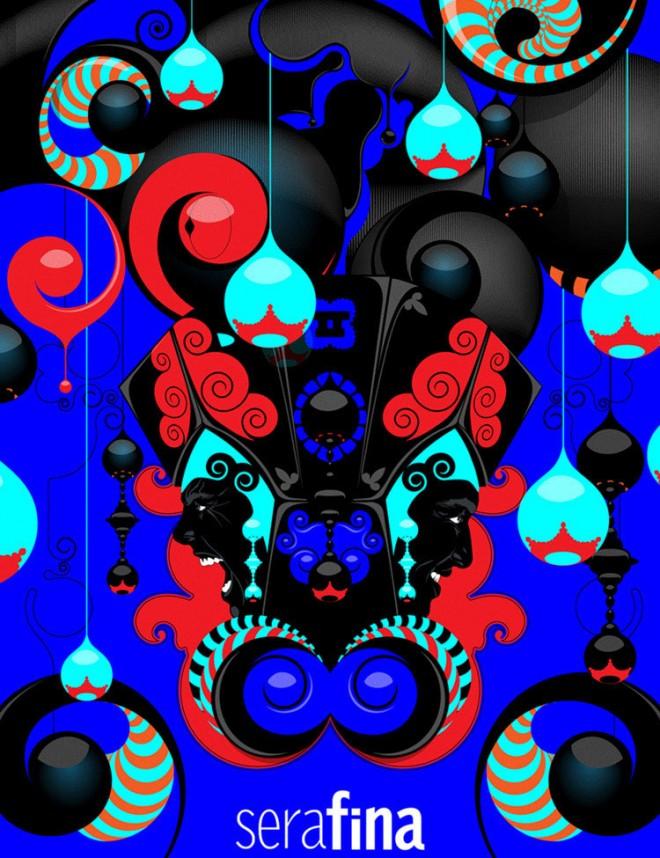 colors collage floral design 16