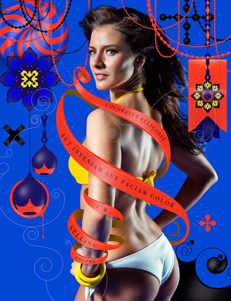colors collage floral design 9