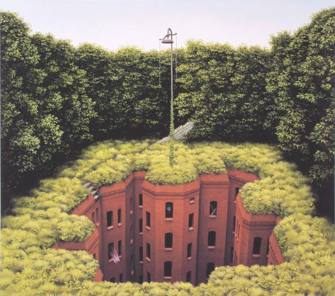 dream world painting jacek yerka