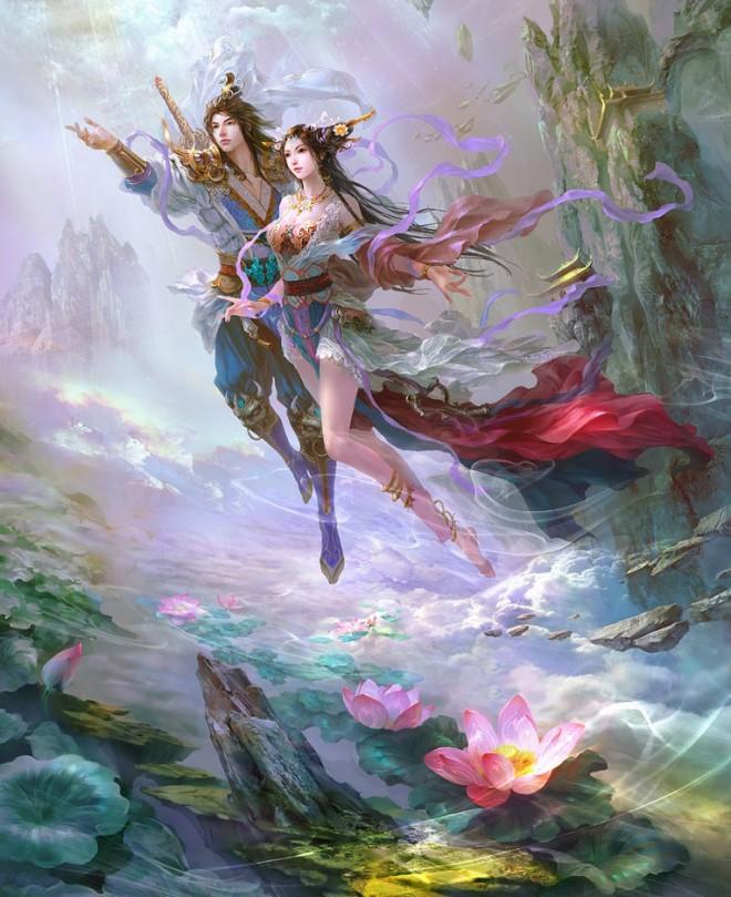 fantasy characters digital paintings guangjian huang
