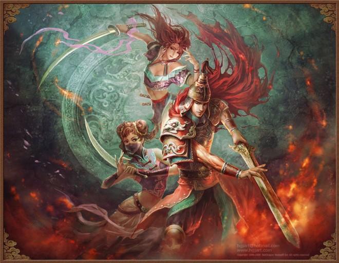 fantasy characters digital paintings guangjian huang 22