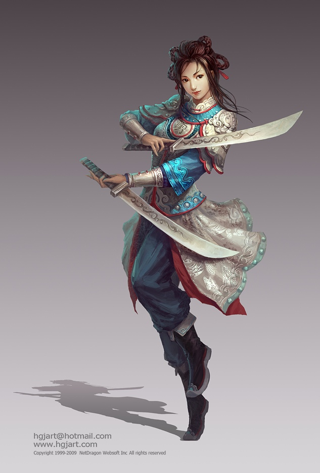 fantasy characters digital paintings guangjian huang