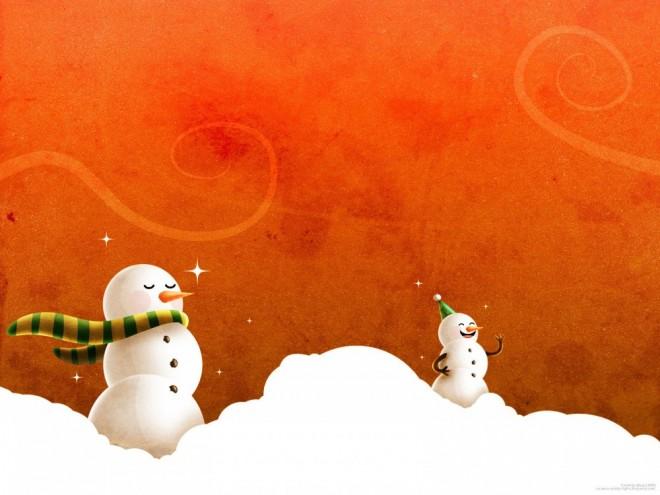 laughing christmas snowmen wallpaper
