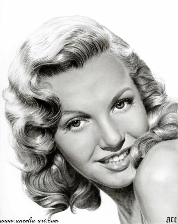 marilyn pencil drawing