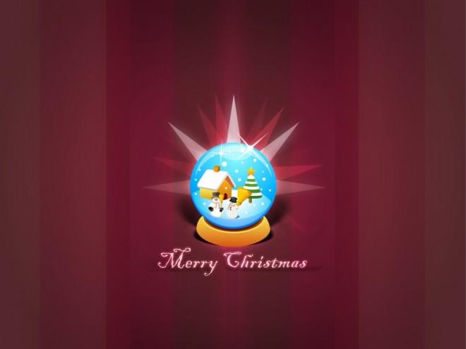 merry christmas snowball globe