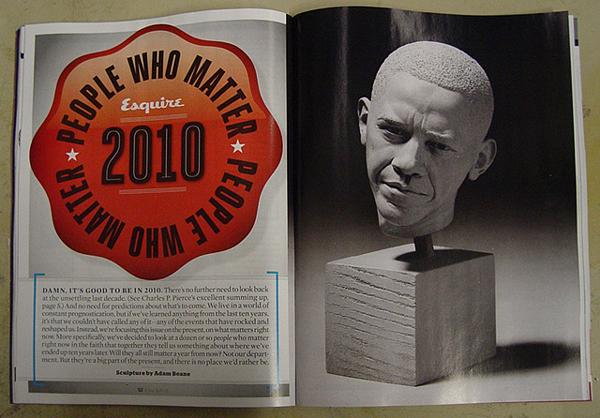 obama sculputre by adam beane