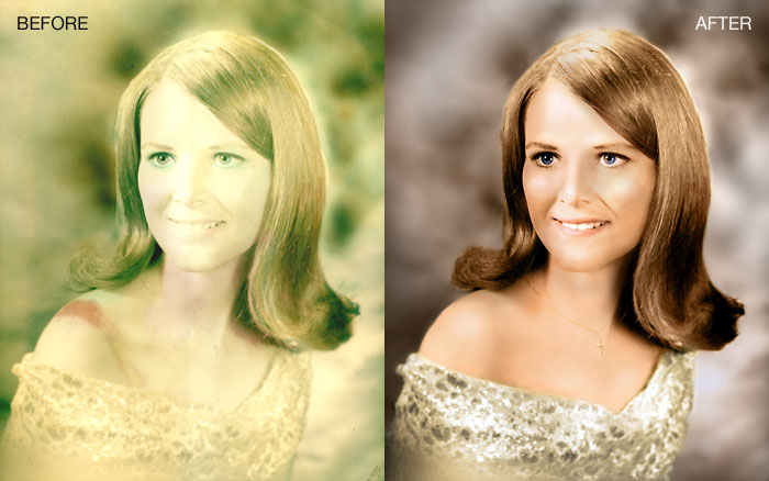 coloring old photos