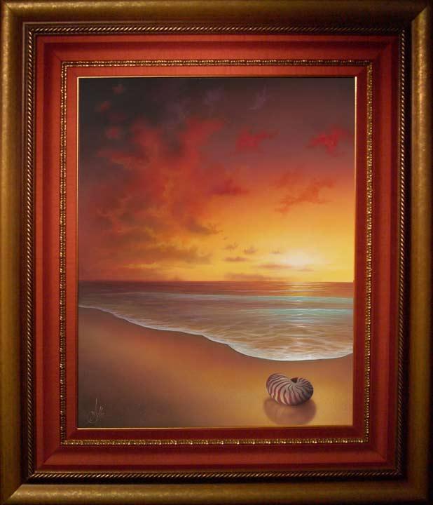 painting sun rise