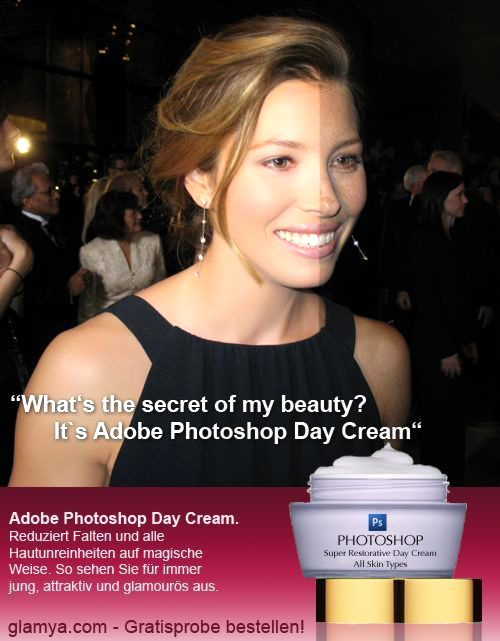 photoshop afterbefore daycream