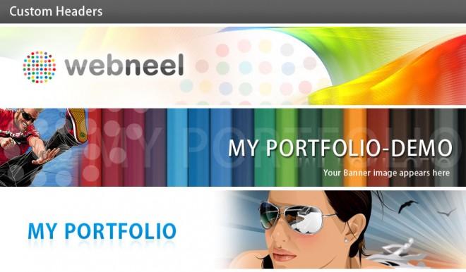 custom header for your online portfolio