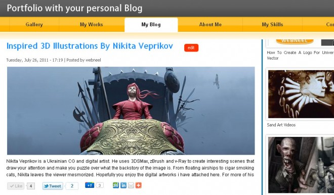 your blog is not far away from your portfolio.